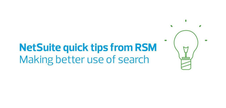 How to make better use of search on NetSuite