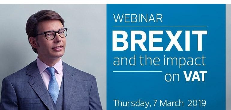 Invitation to join us for a webinar: Brexit and the impact on VAT