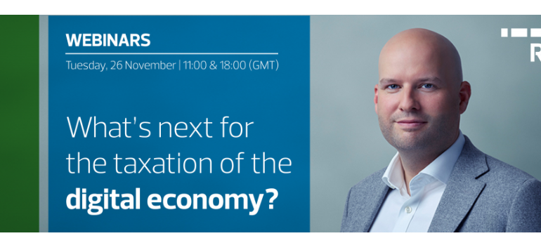 Invitation to join us for a webinar: What's next for the taxation of the digital economy?