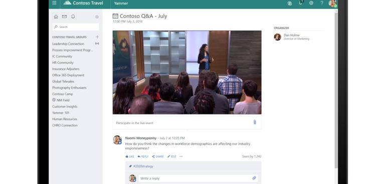 4 kroky k angažovanosti zaměstnanců s novými živými událostmi v Microsoft 365