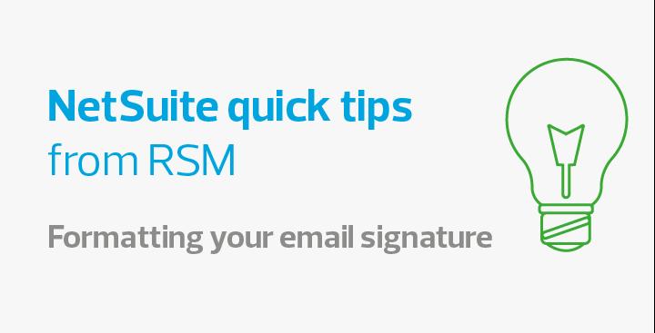 Jak naformátovat e-mailový podpis v NetSuite