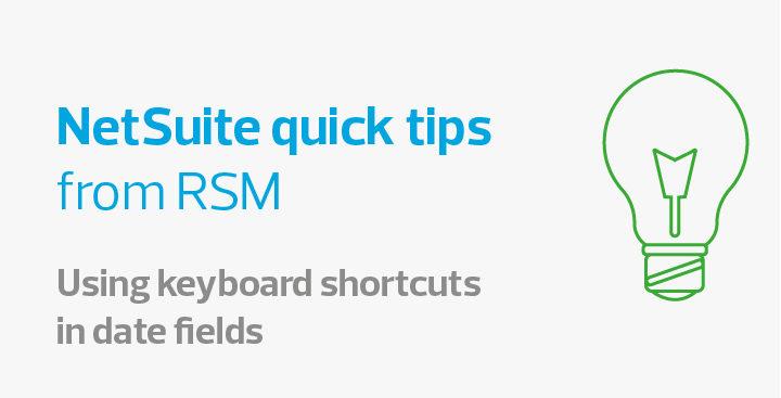 Používání klávesových zkratek v NetSuite