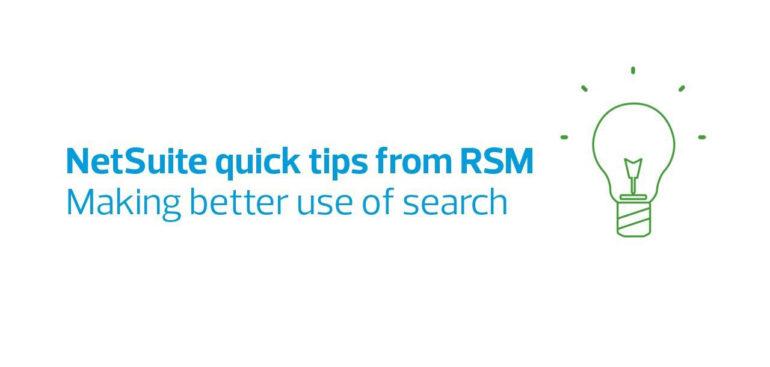Jak lépe využívat vyhledávání v NetSuite