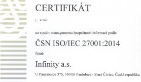 infinity certifikat